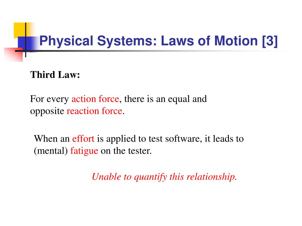 Physical Systems: Laws of Motion [3]