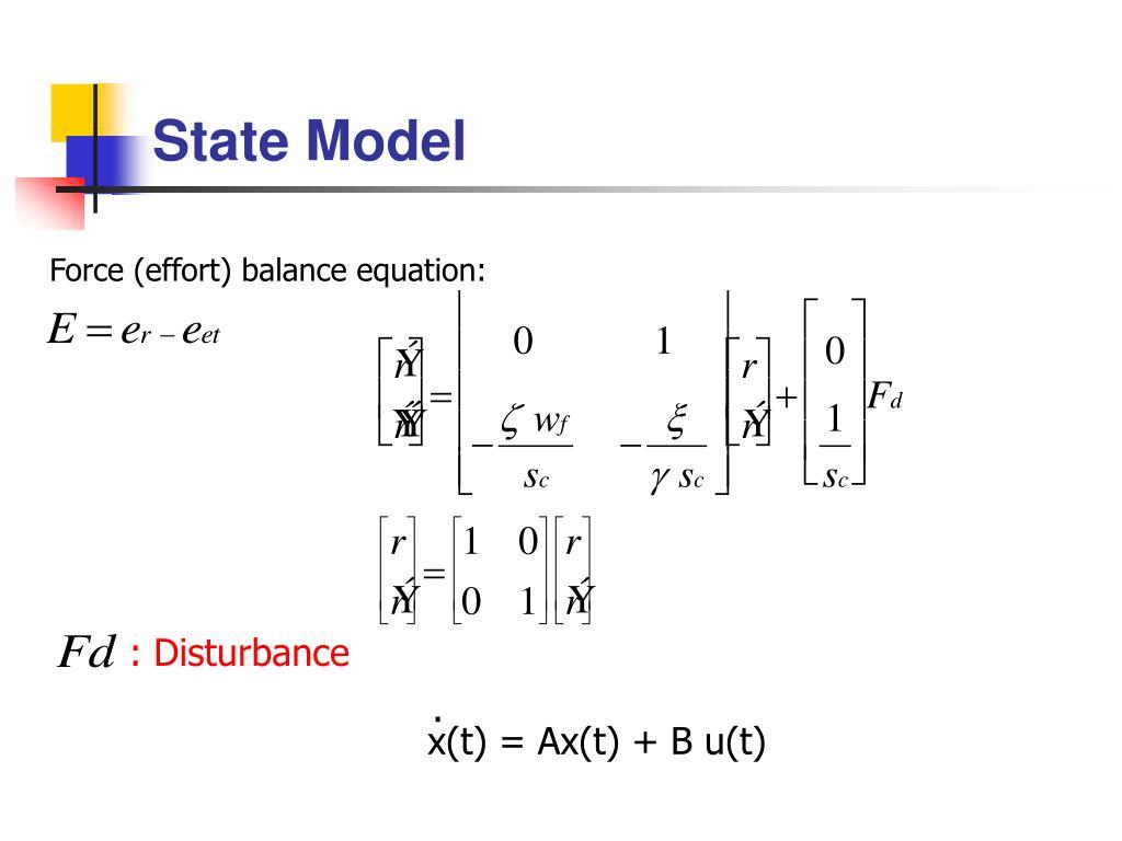 Force (effort) balance equation: