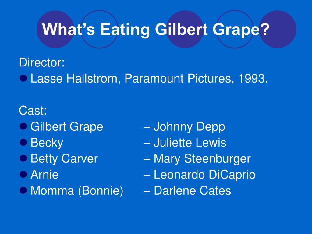 what s eating gilbert grape character becky analysis What's eating gilbert grape character list  when gilbert finally decides to  introduce bonnie to becky, we are able to see how much of an.