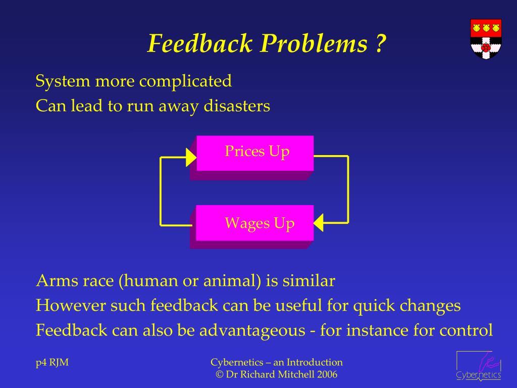 Feedback Problems ?