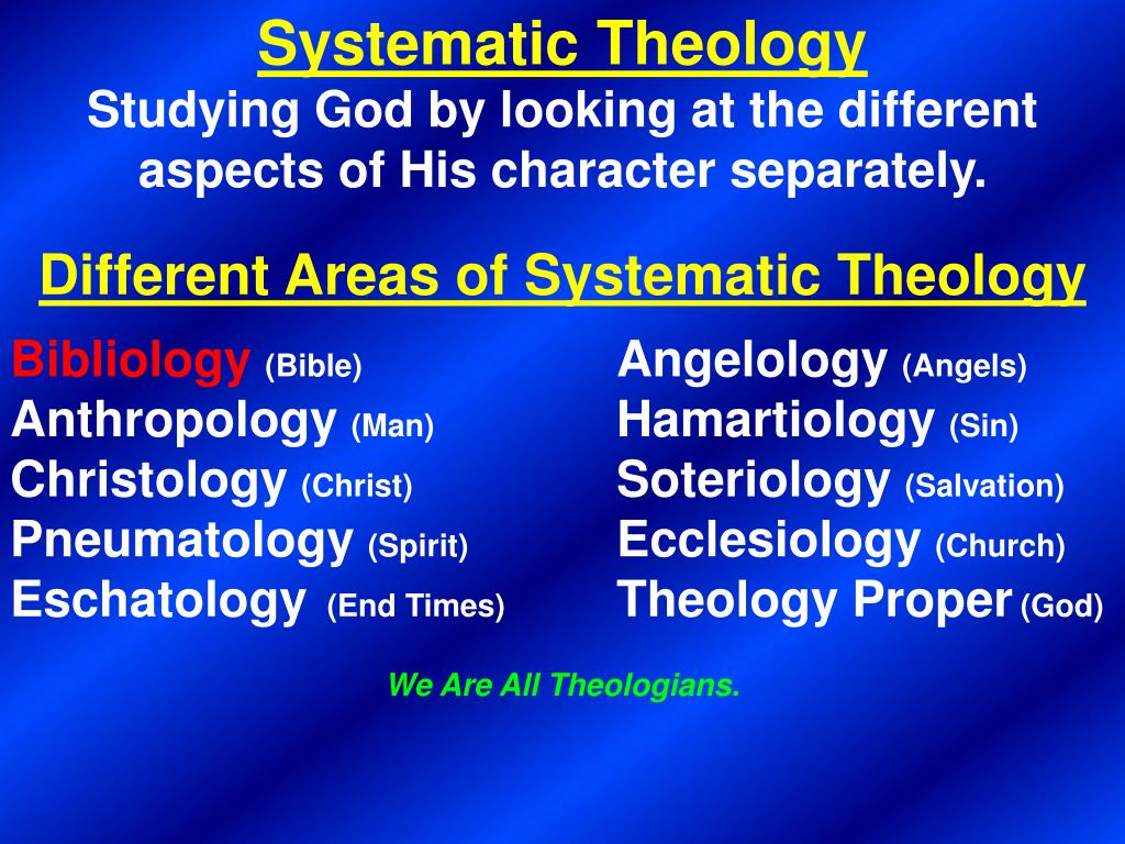 a discussion of theology as the study of god Theology: the study of god by dr robert d luginbill we start with god, from whom are all things for all things (see the discussion above.