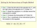 solving by the intersections of graphs method1