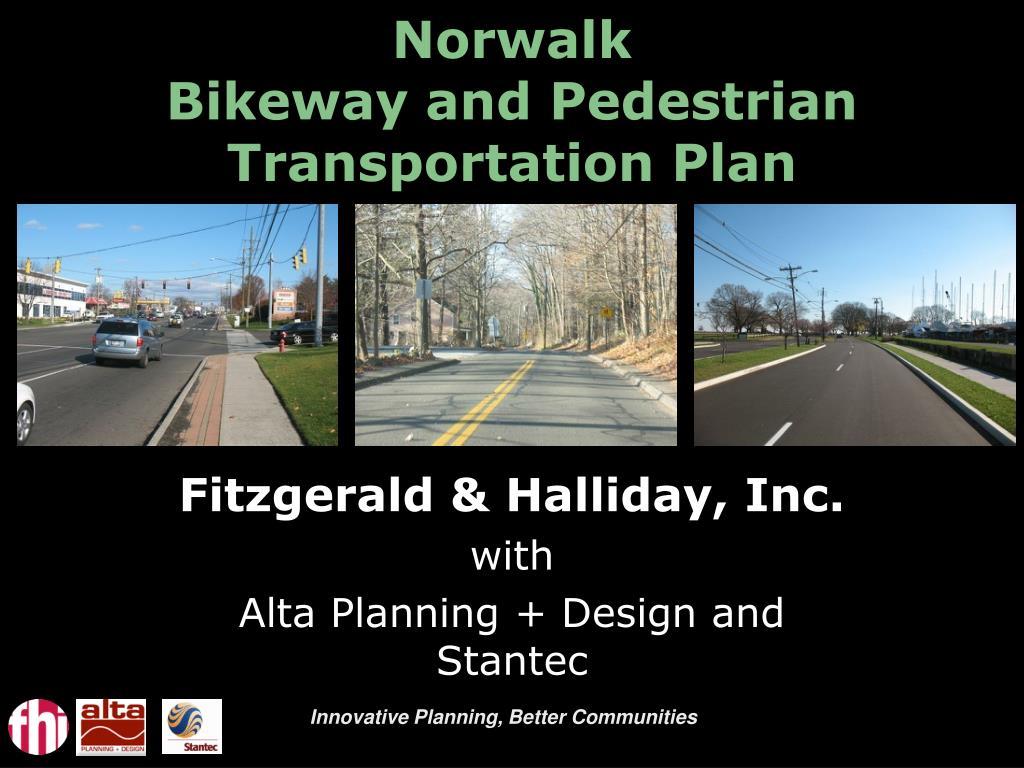 ppt norwalk bikeway and pedestrian transportation plan powerpoint presentation id 35785