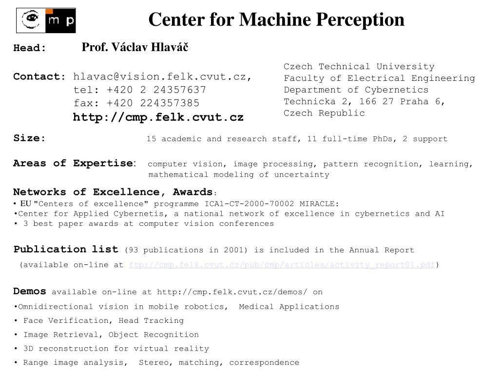 Center for Machine Perception