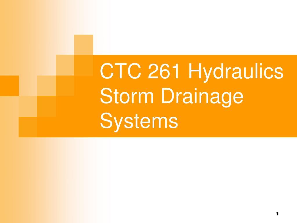 CTC 261 Hydraulics