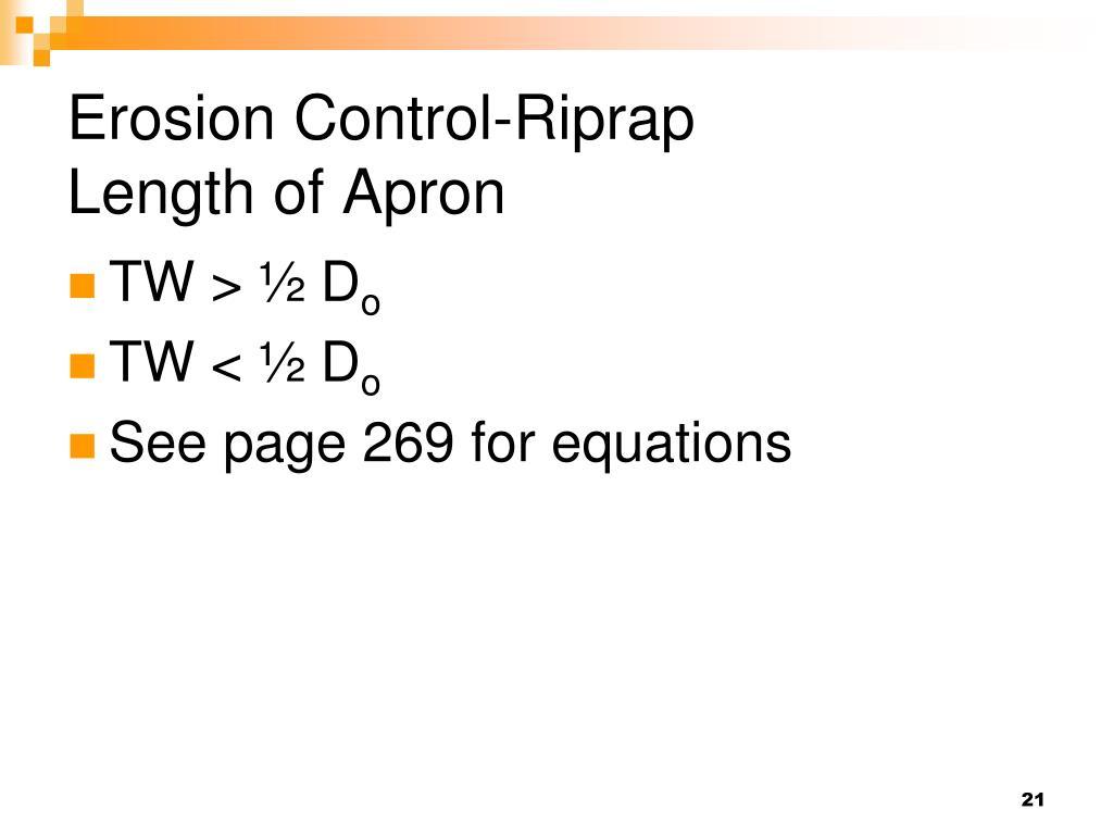 Erosion Control-Riprap