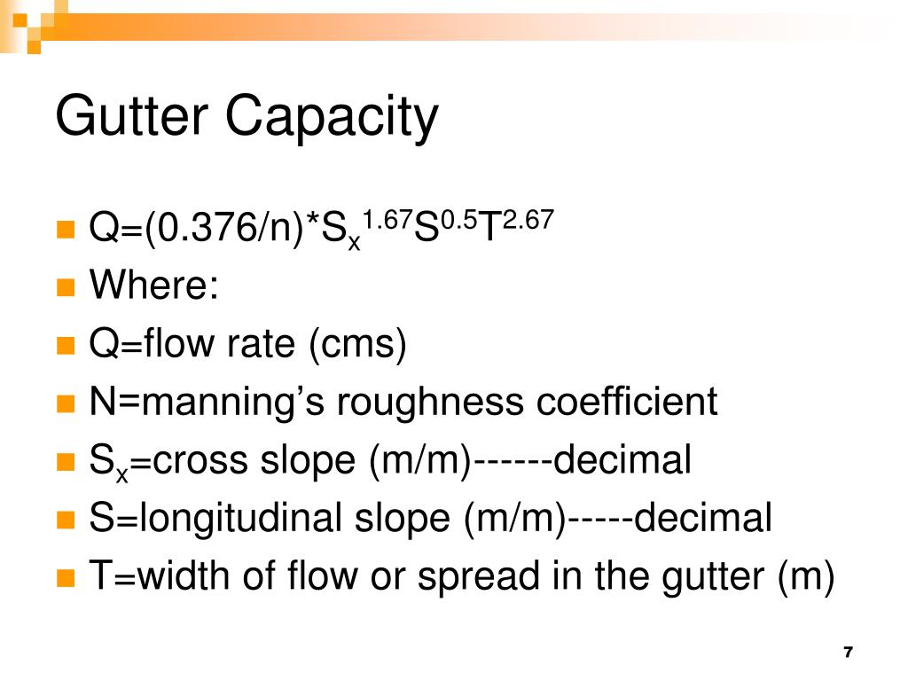 Gutter Capacity