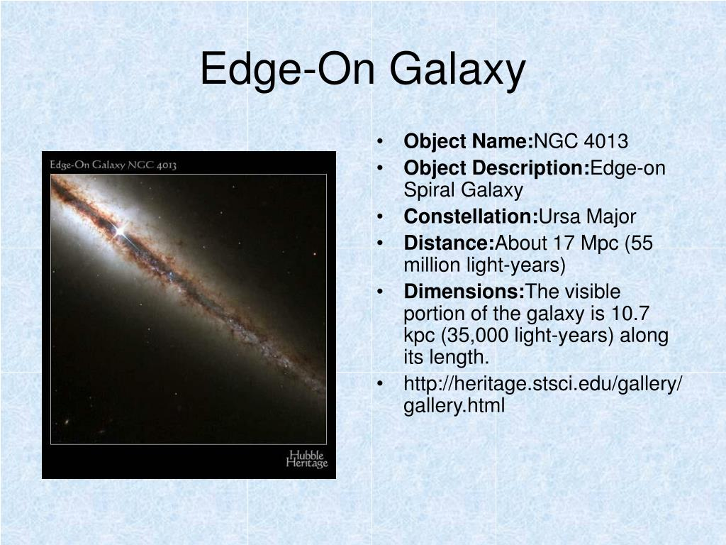 Edge-On Galaxy