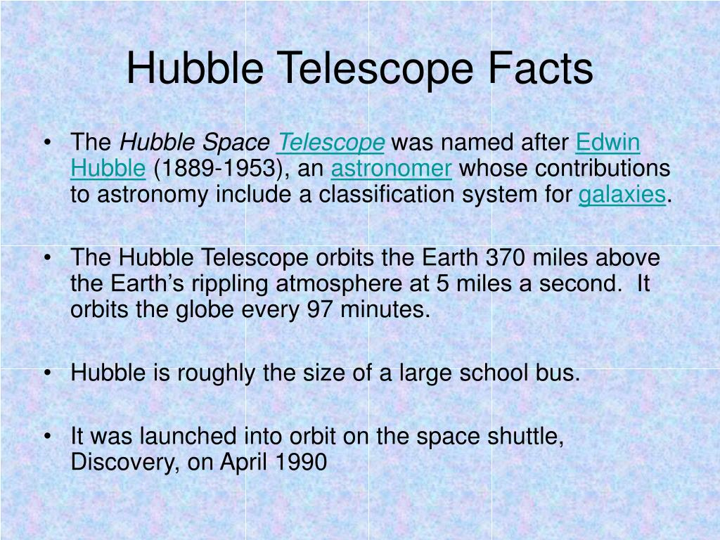 Hubble Telescope Facts