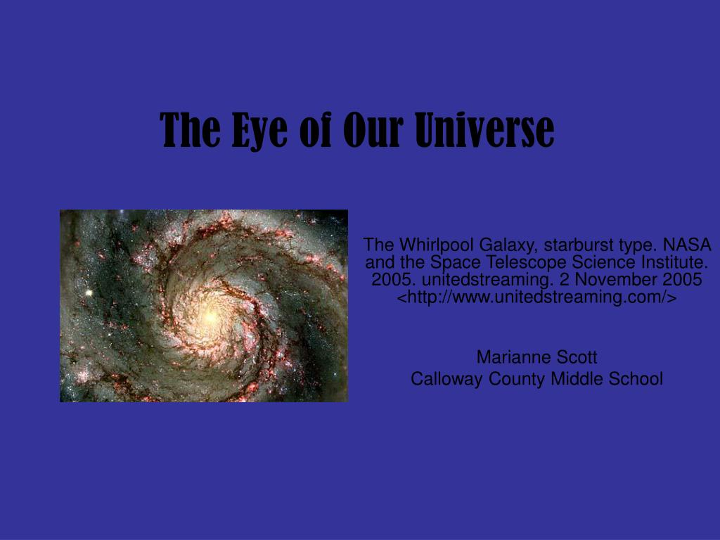 The Eye of Our Universe