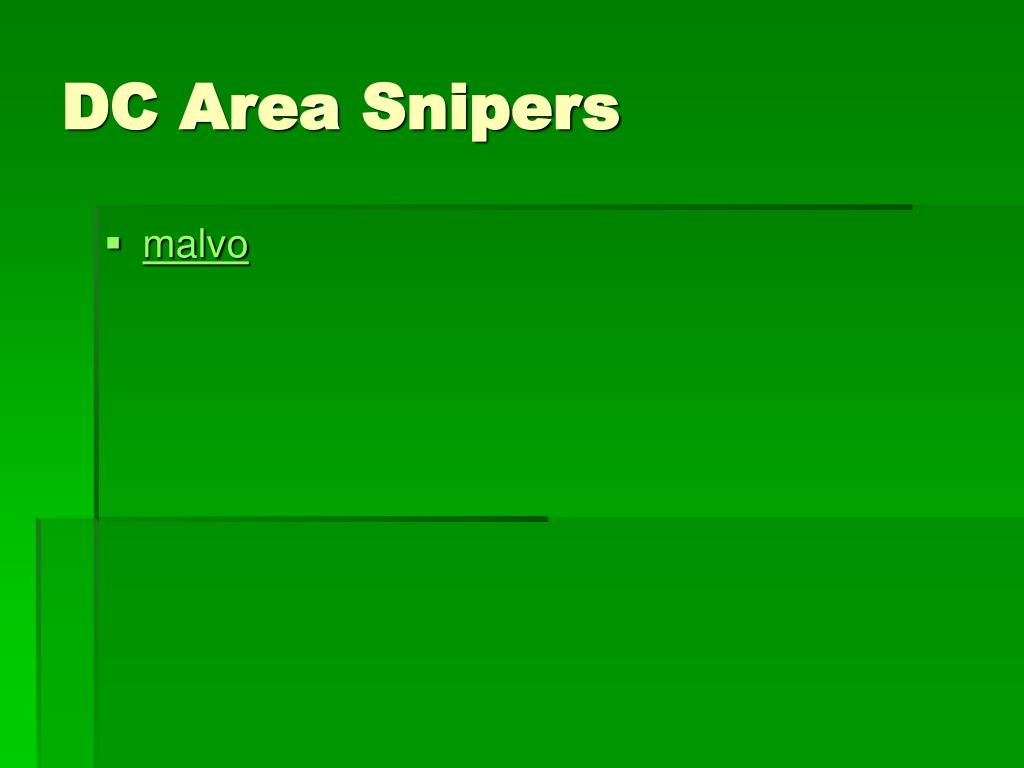DC Area Snipers
