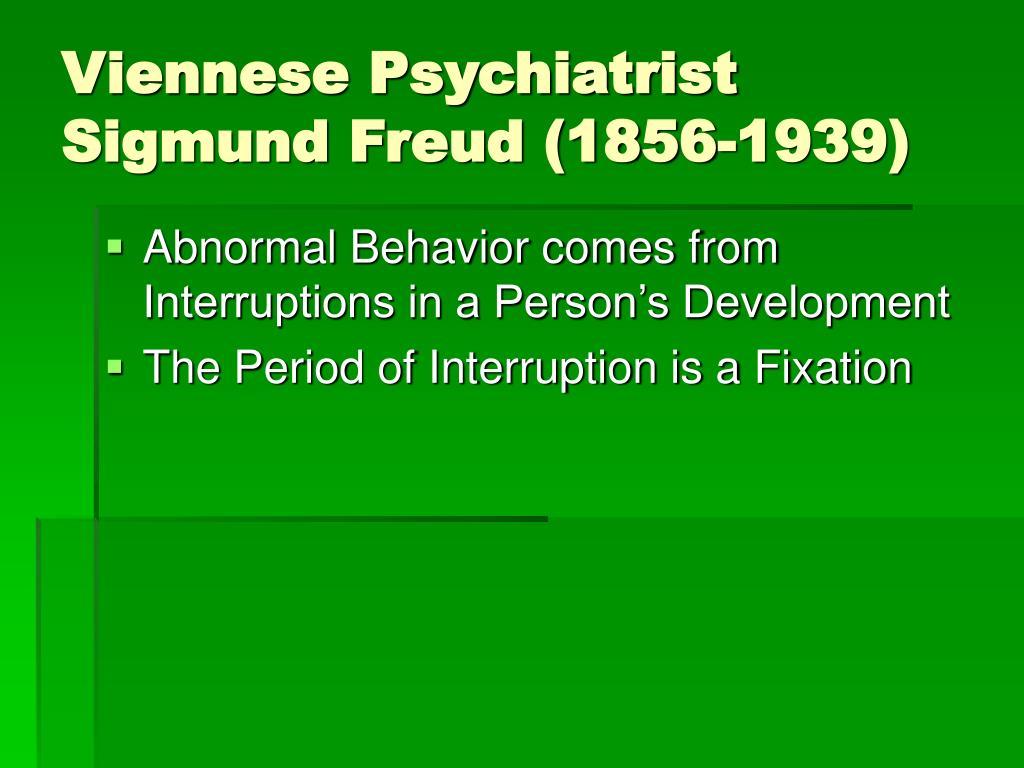 Viennese Psychiatrist Sigmund Freud (1856-1939)
