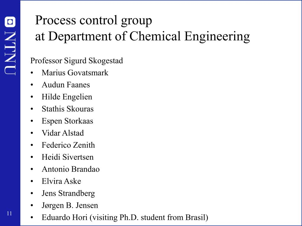 Process control group