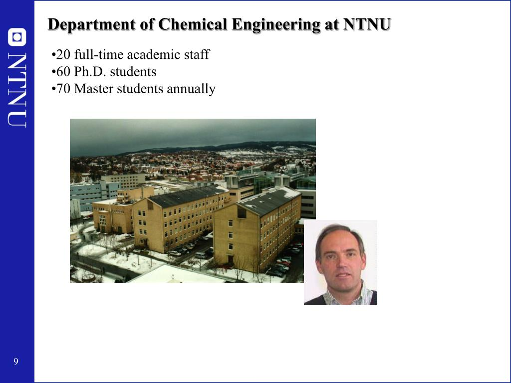 Department of Chemical Engineering at NTNU