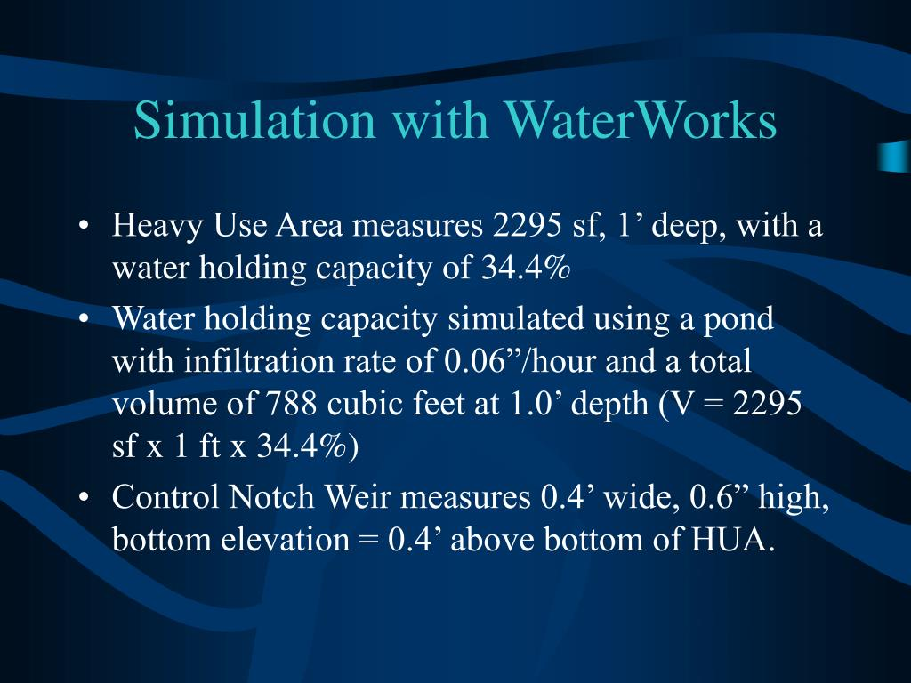 Simulation with WaterWorks