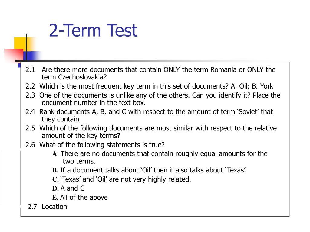 2-Term Test