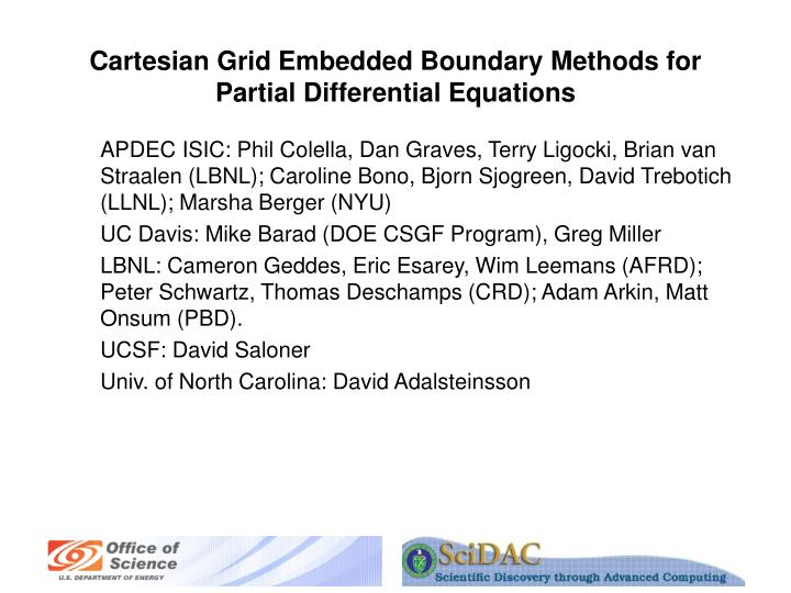 Cartesian grid embedded boundary methods for partial differential equations l.jpg
