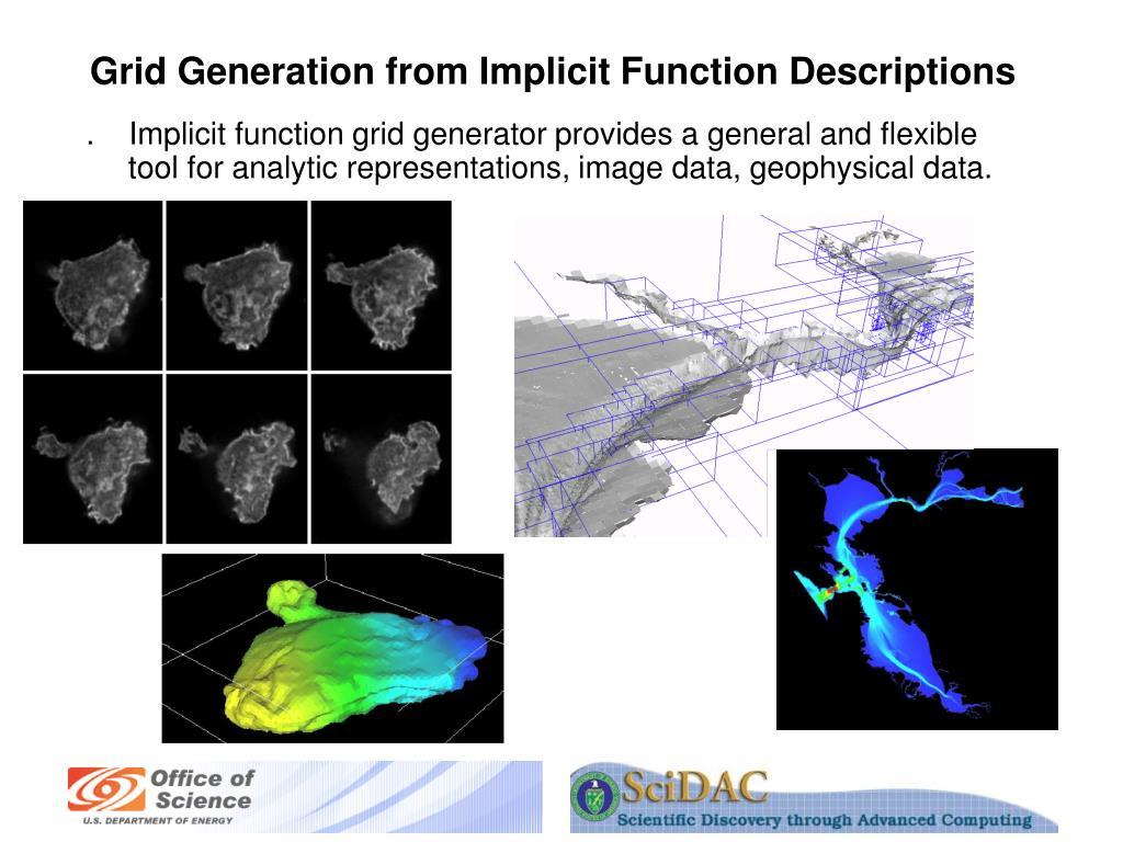 Grid Generation from Implicit Function Descriptions