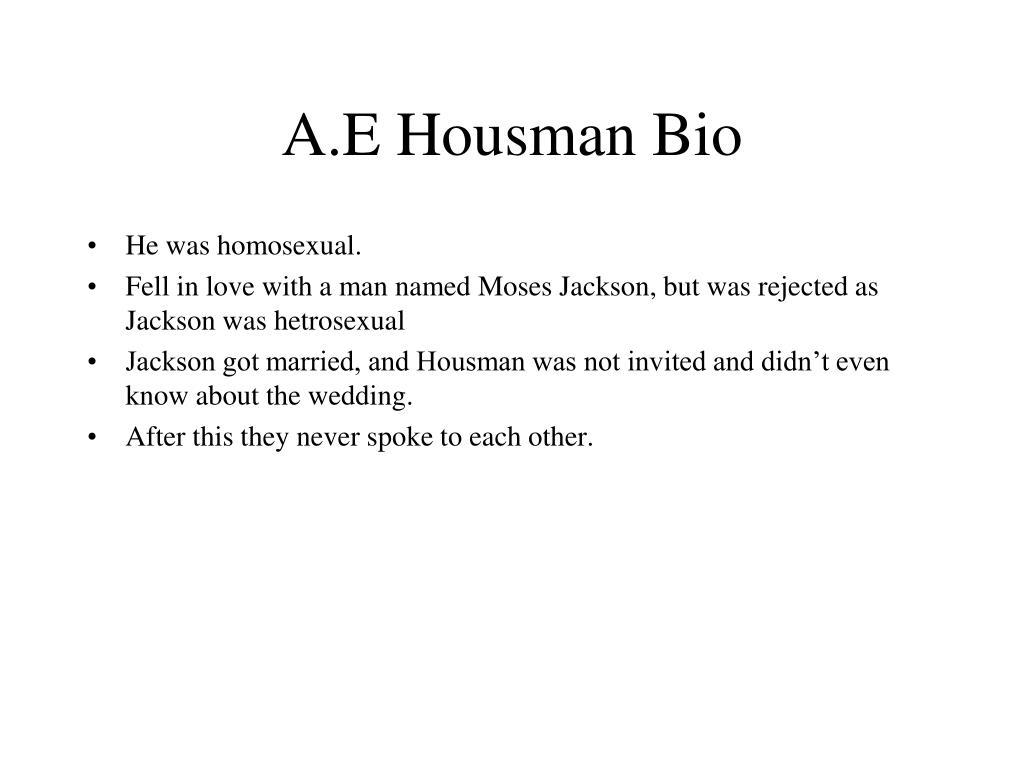 A.E Housman Bio
