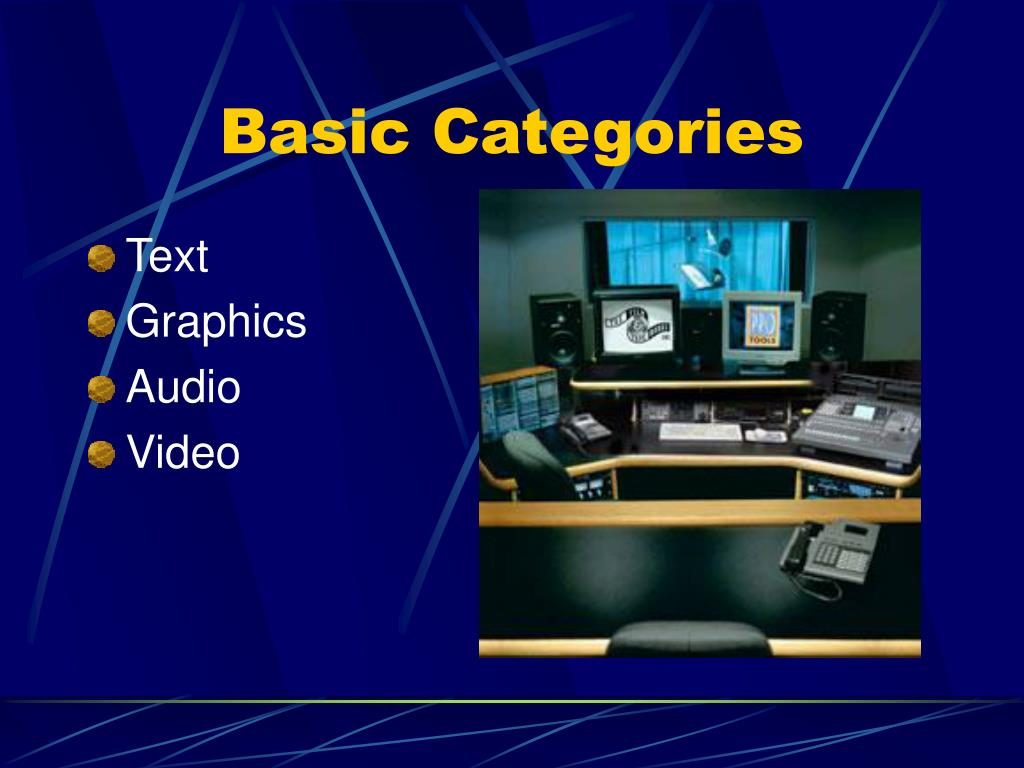Basic Categories