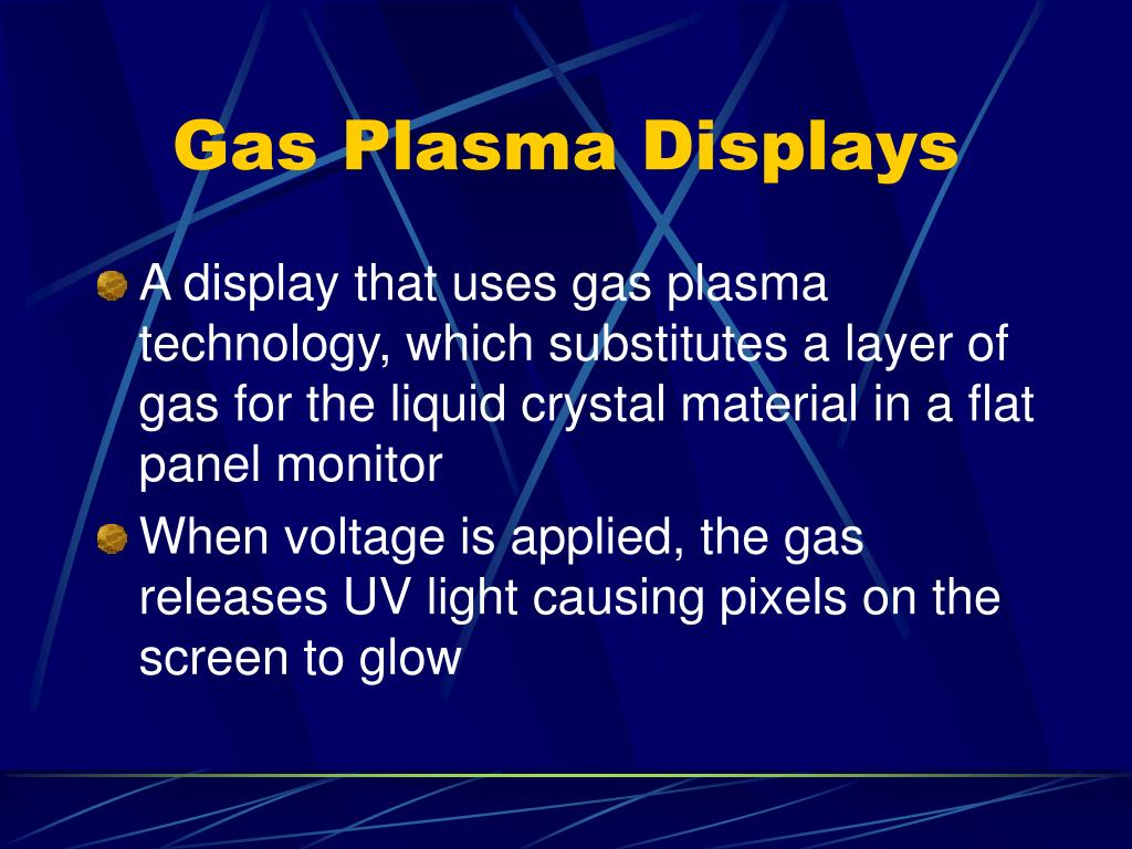Gas Plasma Displays