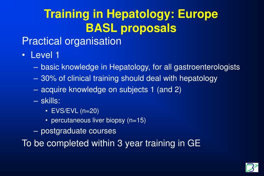 Training in Hepatology: Europe