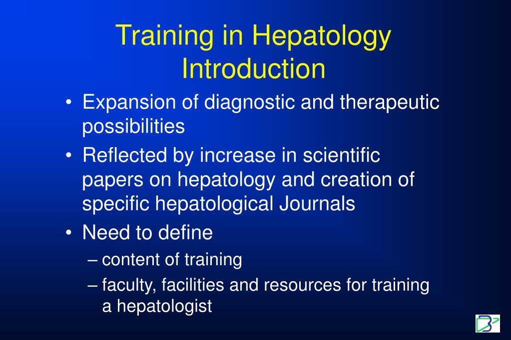 Training in Hepatology