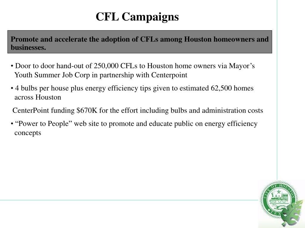 CFL Campaigns