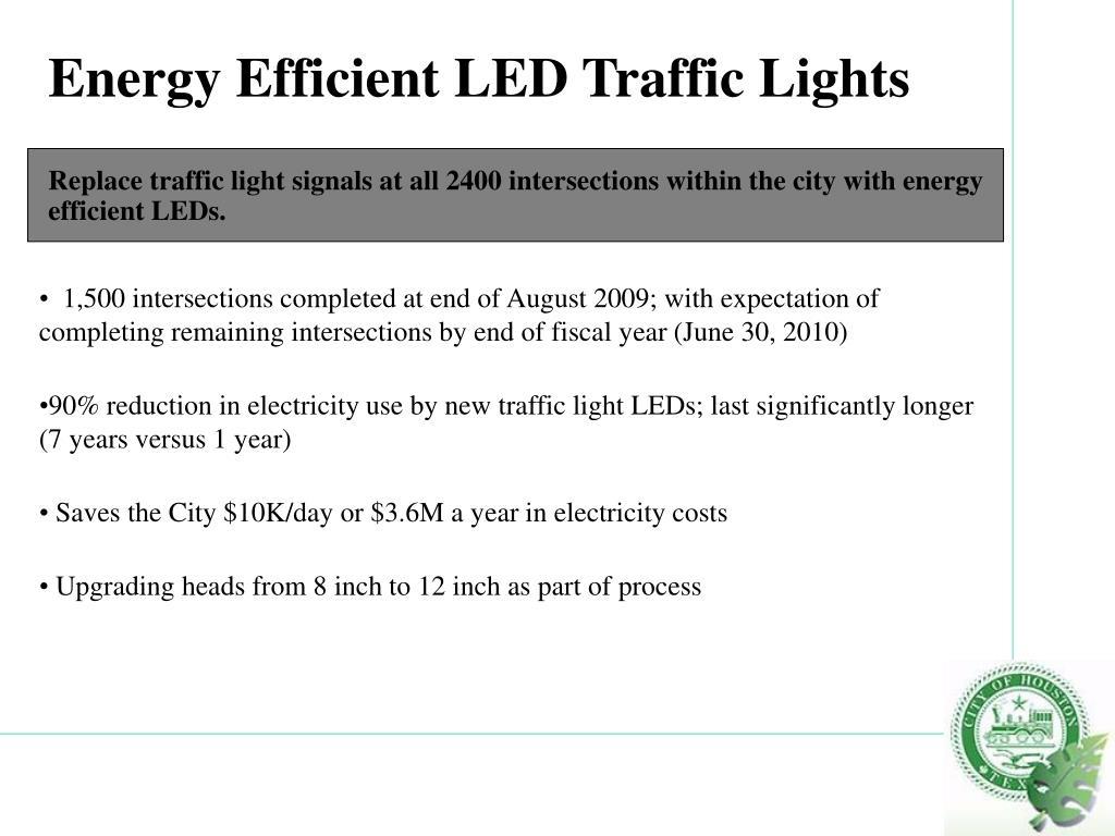 Energy Efficient LED Traffic Lights