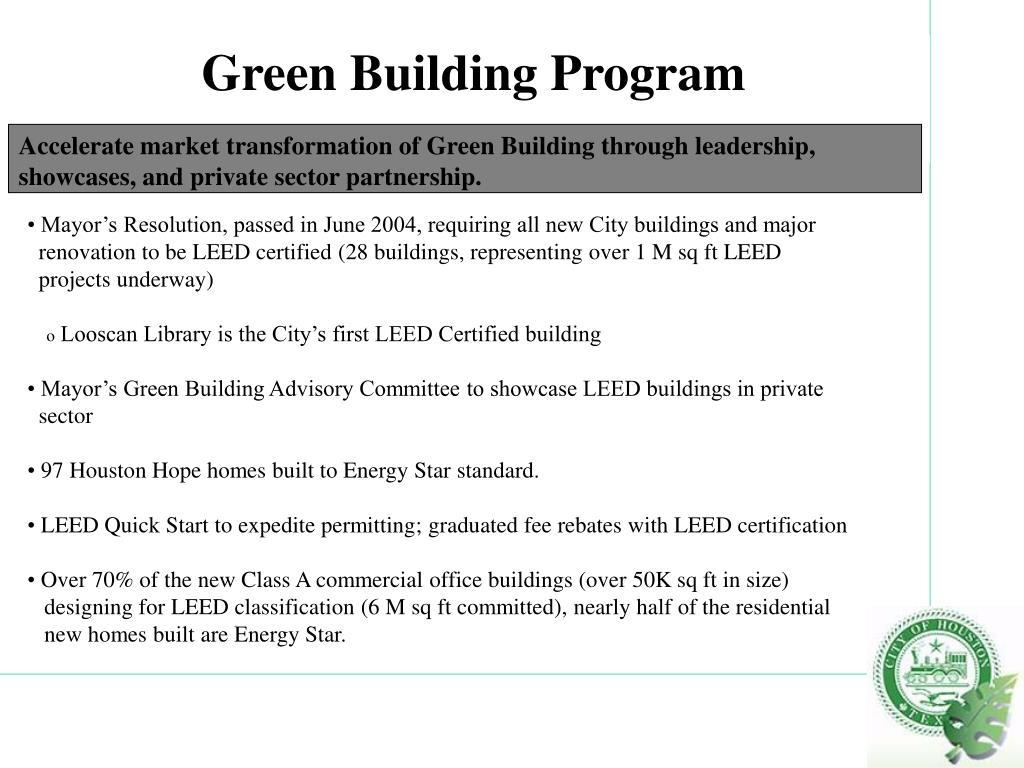 Green Building Program