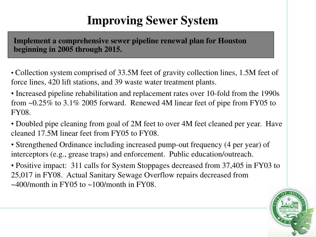 Improving Sewer System