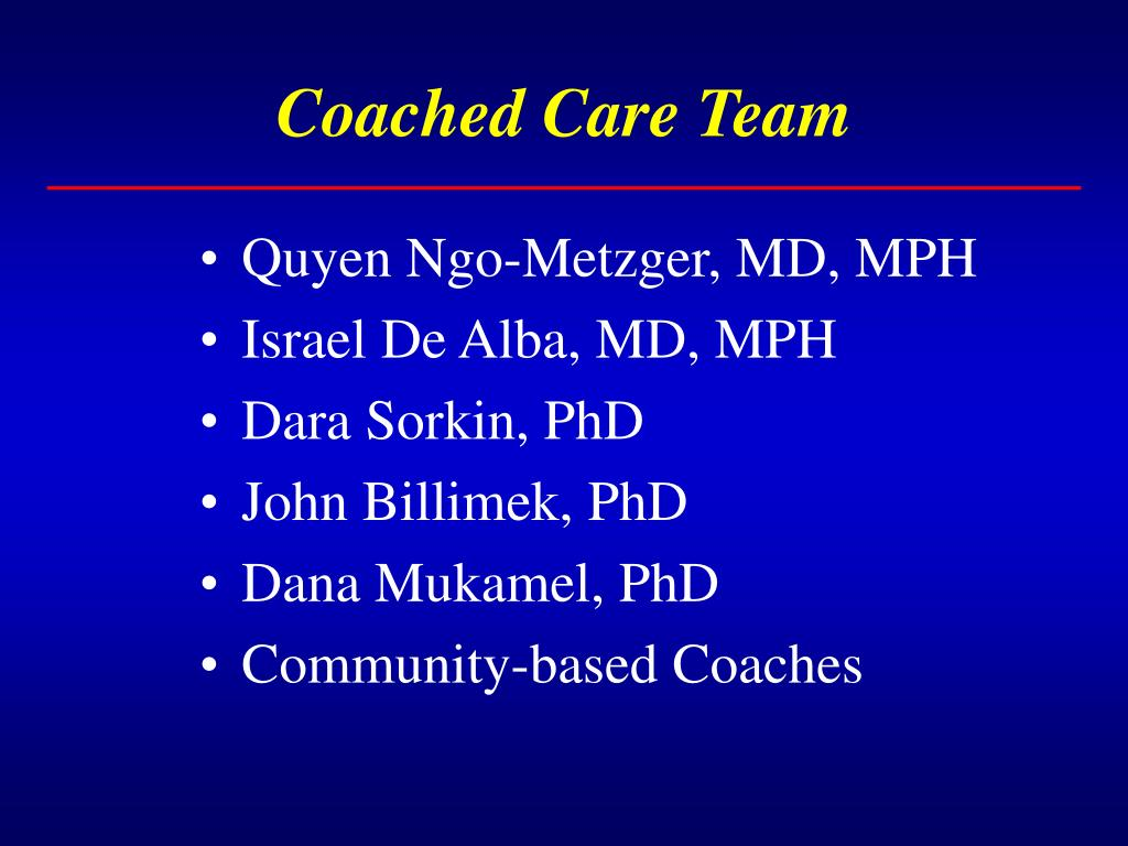 Coached Care Team
