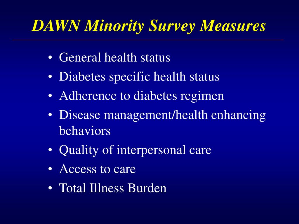 DAWN Minority Survey Measures