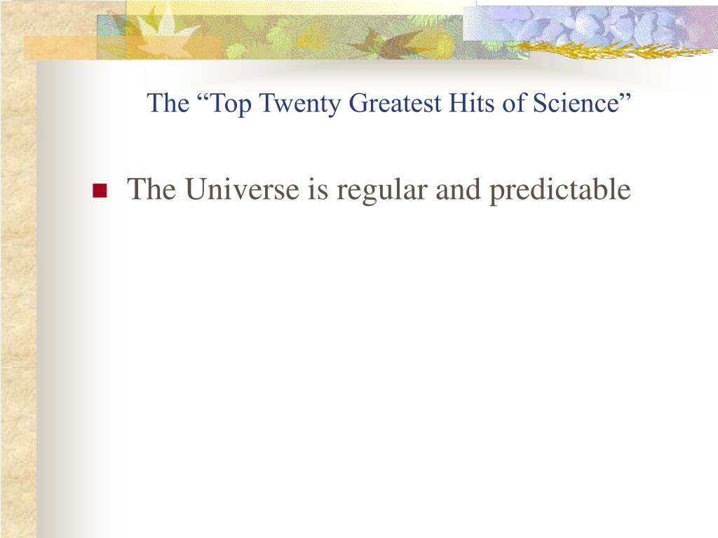 "The ""Top Twenty Greatest Hits of Science"""