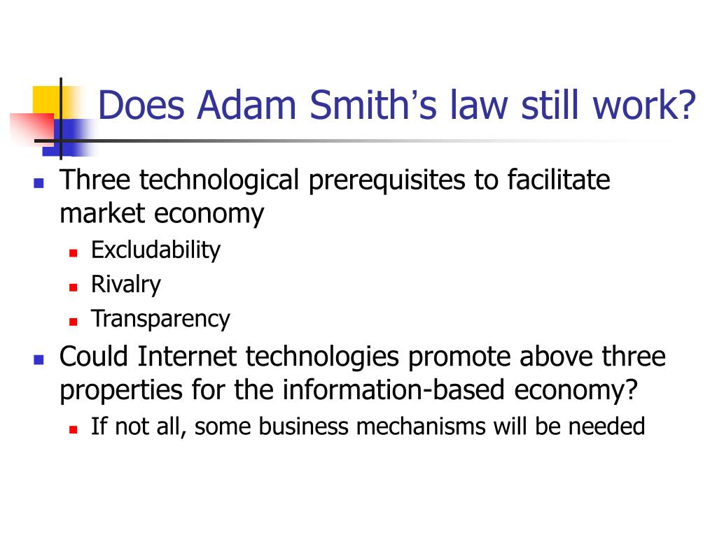 Does Adam Smith