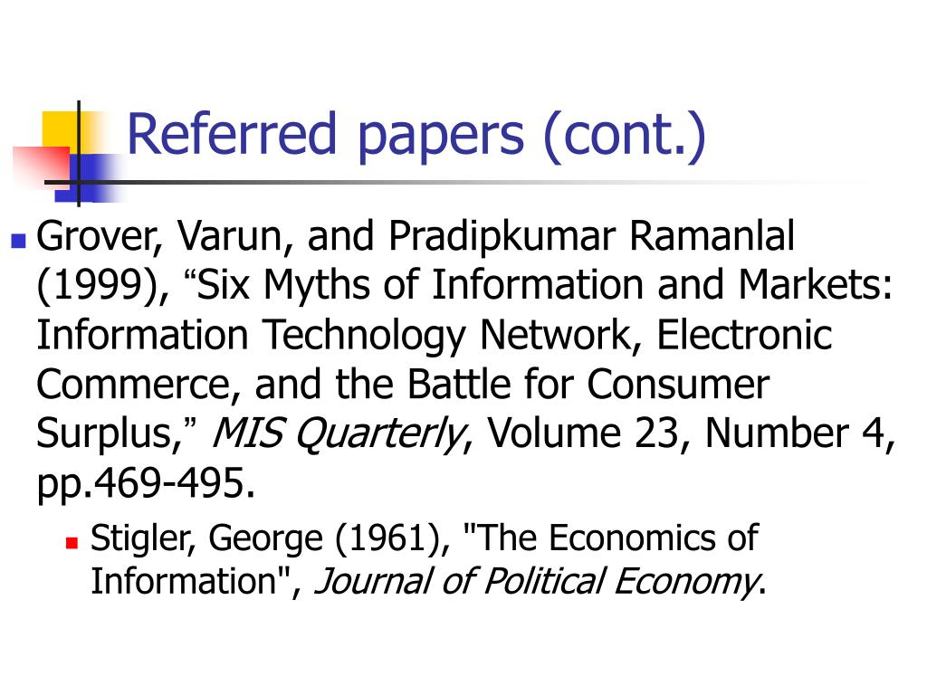 Referred papers (cont.)
