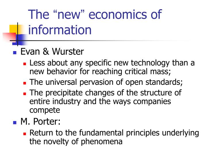 The new economics of information
