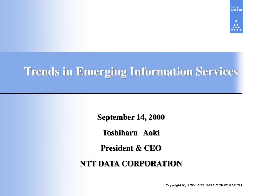 Trends in Emerging Information Services