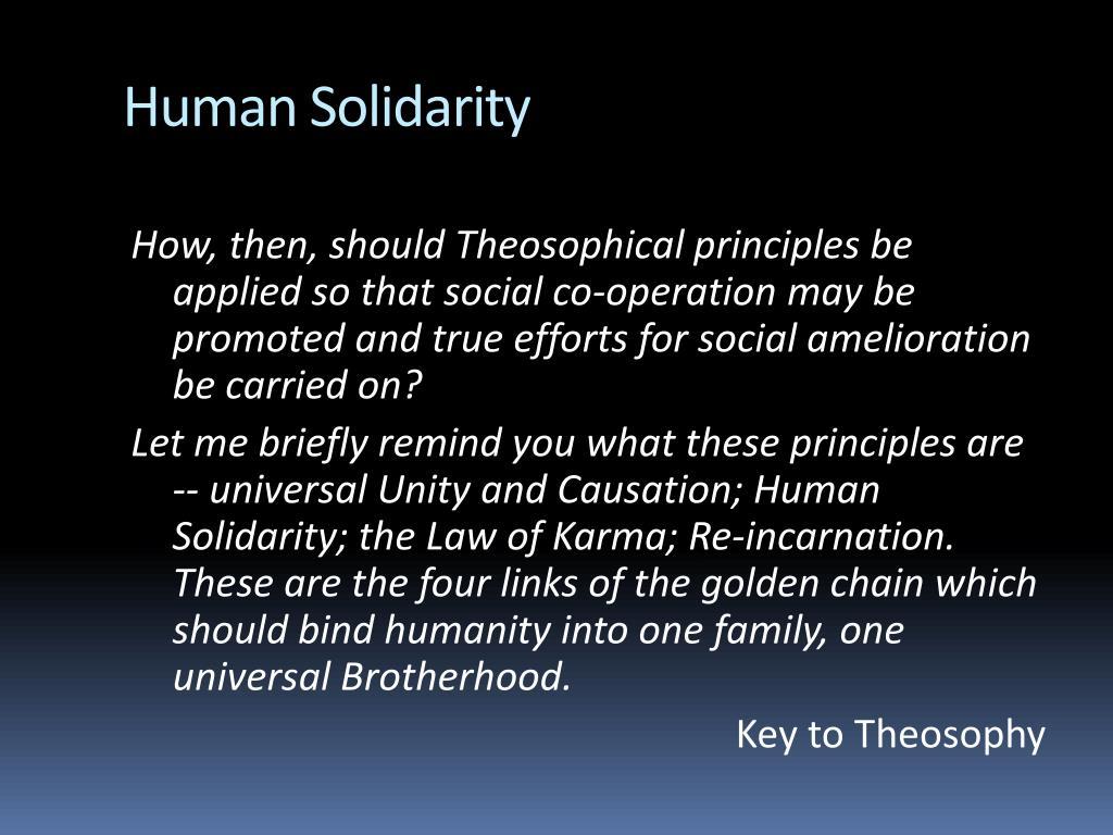 Human Solidarity