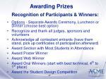 awarding prizes47