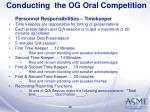 conducting the og oral competition29
