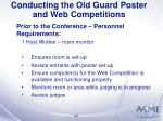 conducting the old guard poster and web competitions34