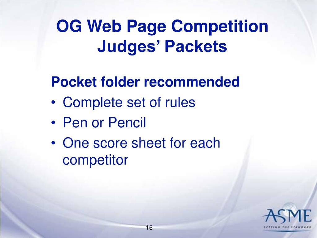 OG Web Page Competition