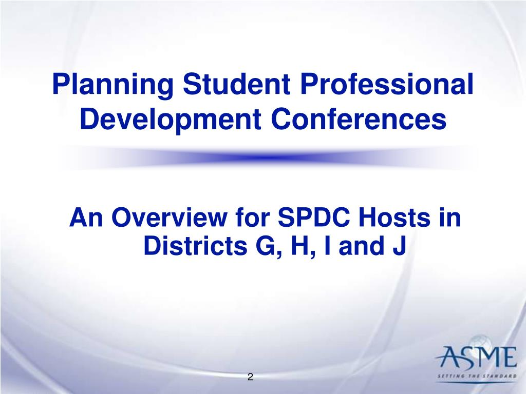 Planning Student Professional Development Conferences