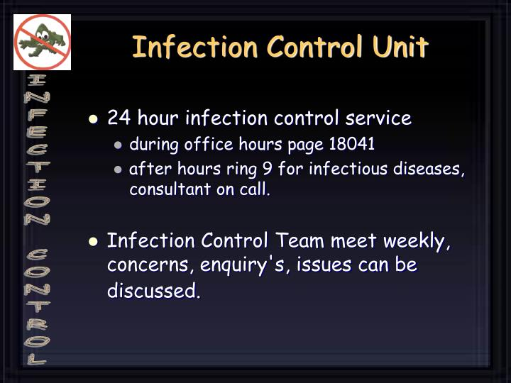 Infection control unit