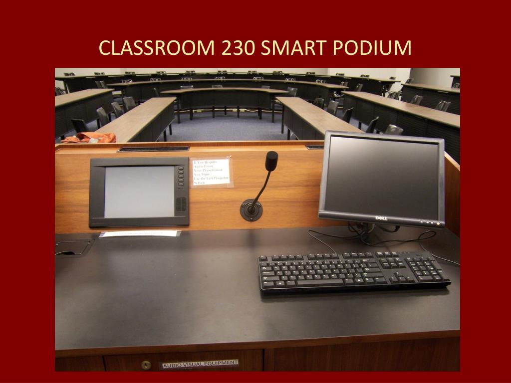 CLASSROOM 230 SMART PODIUM