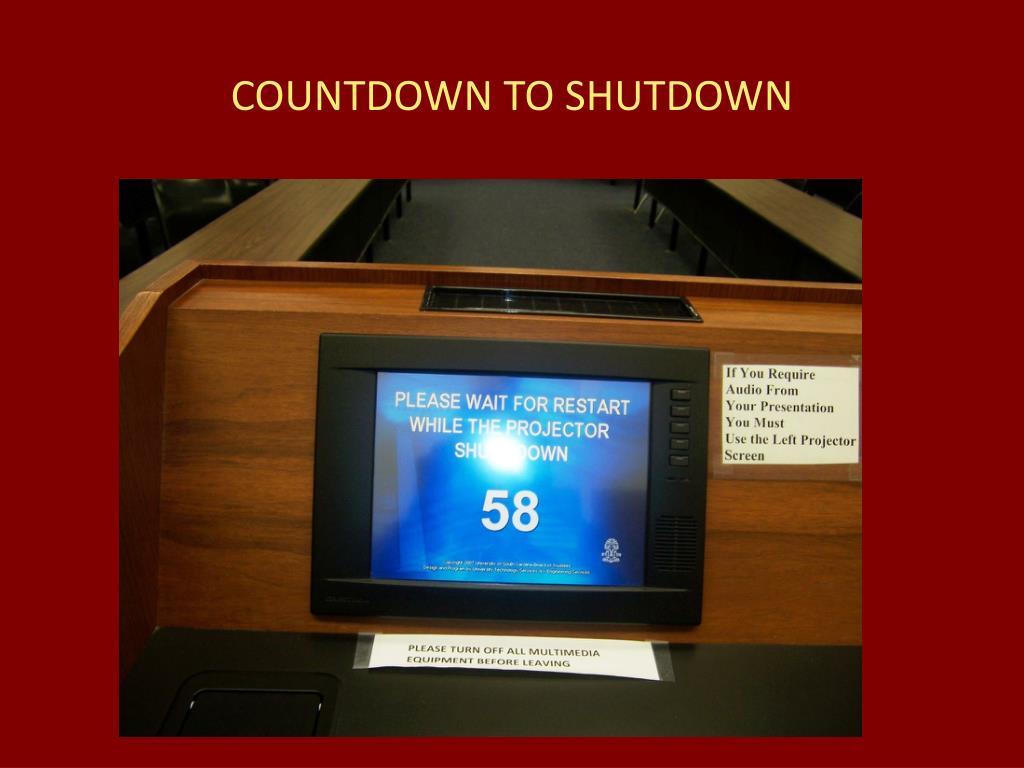 COUNTDOWN TO SHUTDOWN