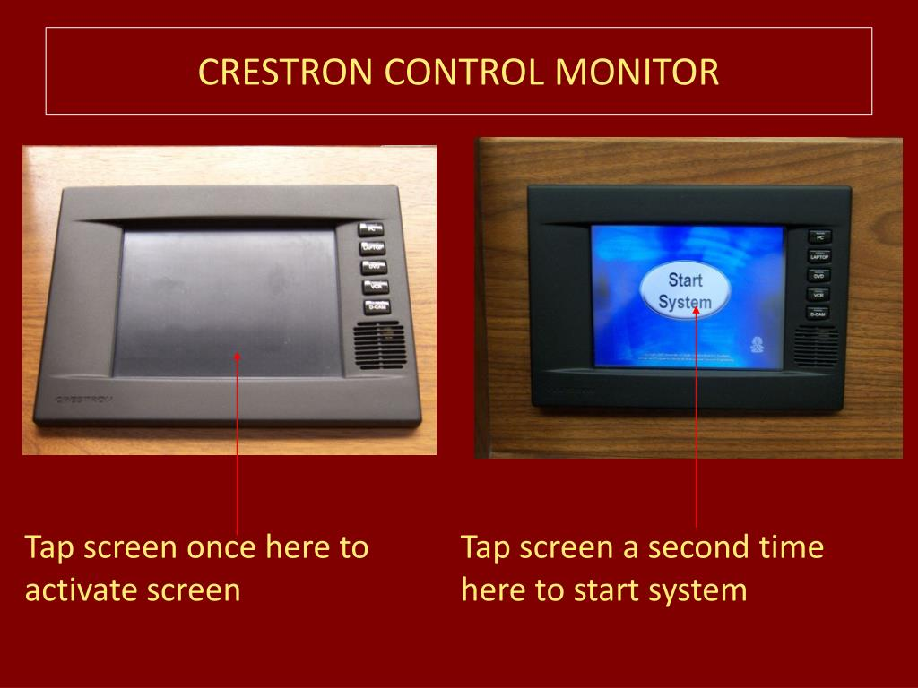 CRESTRON CONTROL MONITOR