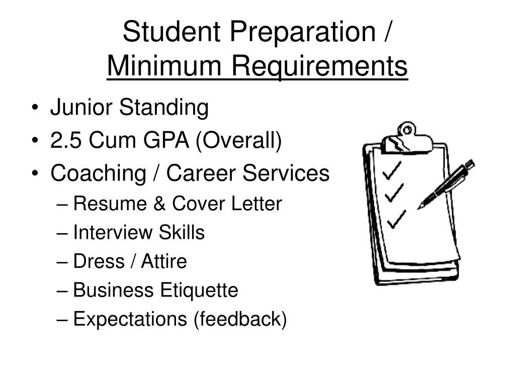 Student Preparation /
