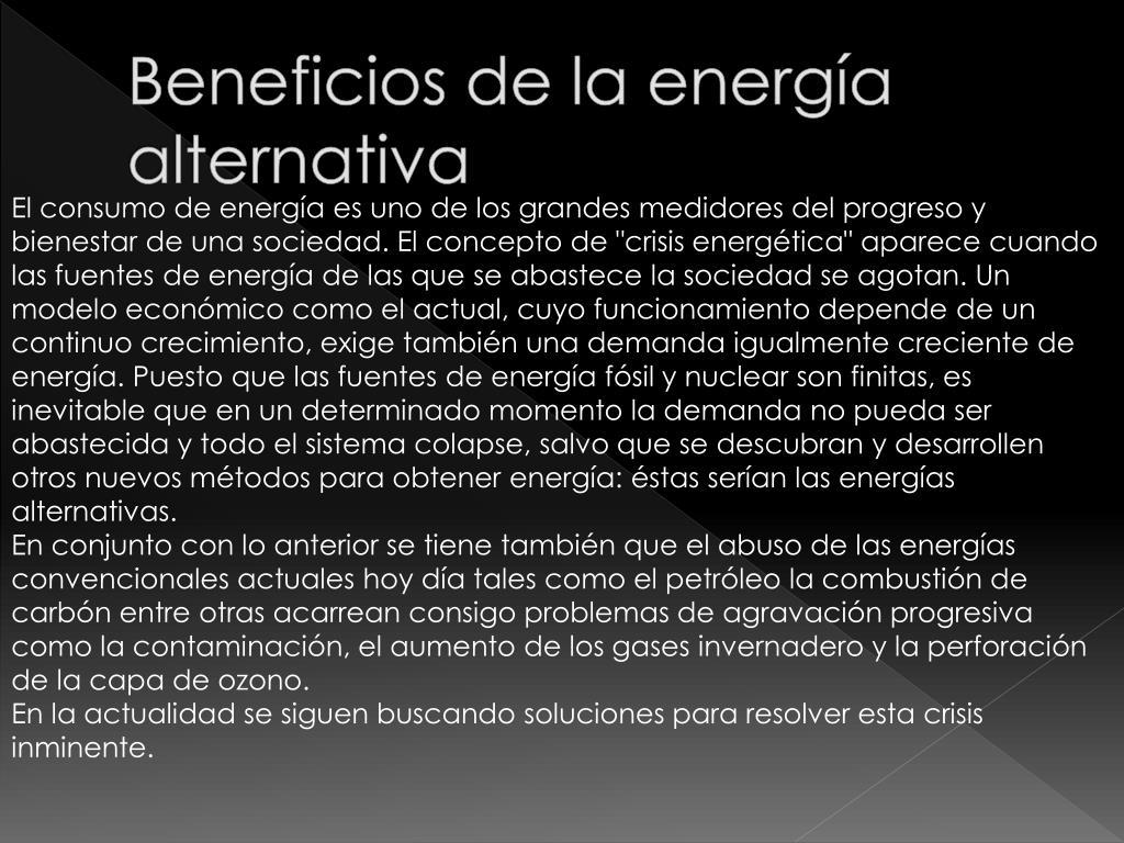 Beneficios de la energía alternativa